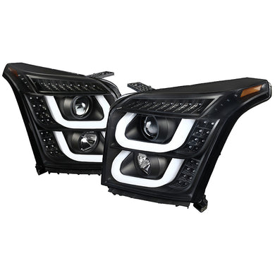 Spec-D Projector Headlights GMC Yukon & XL [LED DRL] (2015-2018) Black or Chrome