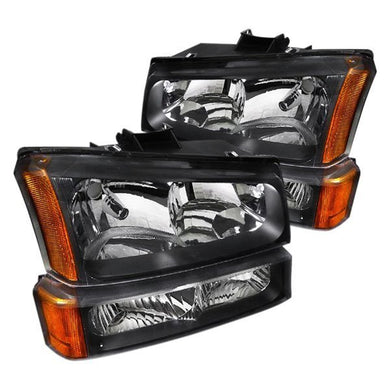 Spec-D OEM Replacement Headlights Chevy Silverado / Avalanche (2003-2007) Black or Chrome