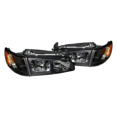 Spec-D OEM Replacement Headlights Toyota Corolla (93-97) Black Housing