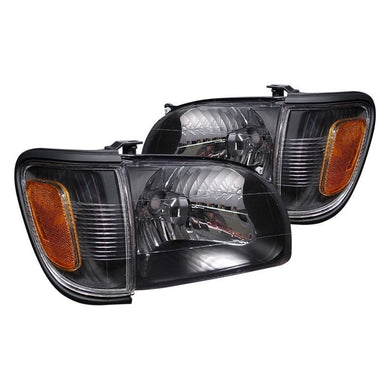 Spec-D OEM Replacement Headlights Toyota Tacoma (01-04) Black Housing