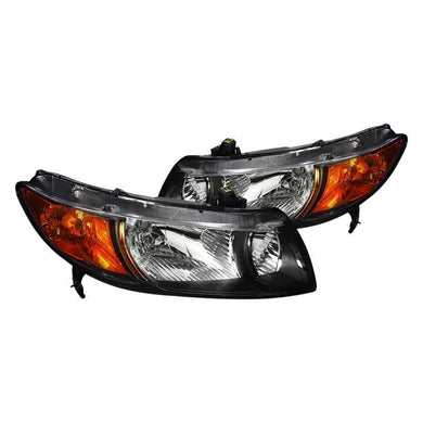 Spec-D OEM Replacement Headlights Honda Civic [JDM Euro] (06-11) Black or Chrome