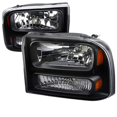 Spec-D OEM Replacement Headlights Ford F250 / F350 (1999-2004) Chrome / Black