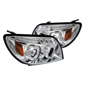 Spec-D Projector Headlights Toyota 4Runner [Dual Halo LED] (03-05) Black or Chrome