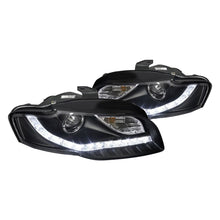 Load image into Gallery viewer, Spec-D Projector Headlights Audi A4 [Black R8 LED Style] (06-08) Version 1