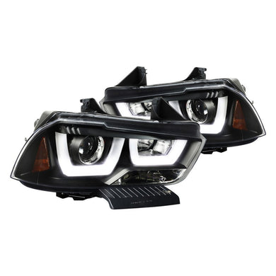 Spec-D Projector Headlights Dodge Charger [Dual Halo LED] (11-14) 2LHP-CHG11JM-TM
