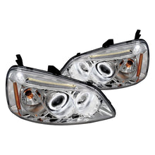 Load image into Gallery viewer, Spec-D Projector Headlights Honda Civic [Dual LED Halo] (01-03) Black or Chrome