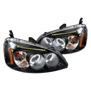 Spec-D Projector Headlights Honda Civic [Dual LED Halo] (01-03) Black or Chrome