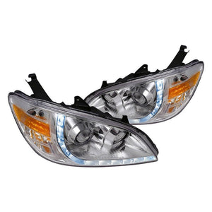 Spec-D Projector Headlights Honda Civic [R8 LED Dual Halo] (04-05) Black or Chrome