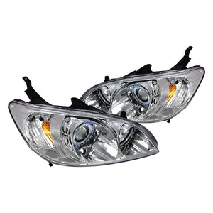 Spec-D Projector Headlights Honda Civic [Dual Halo] (04-05) Black or Chrome