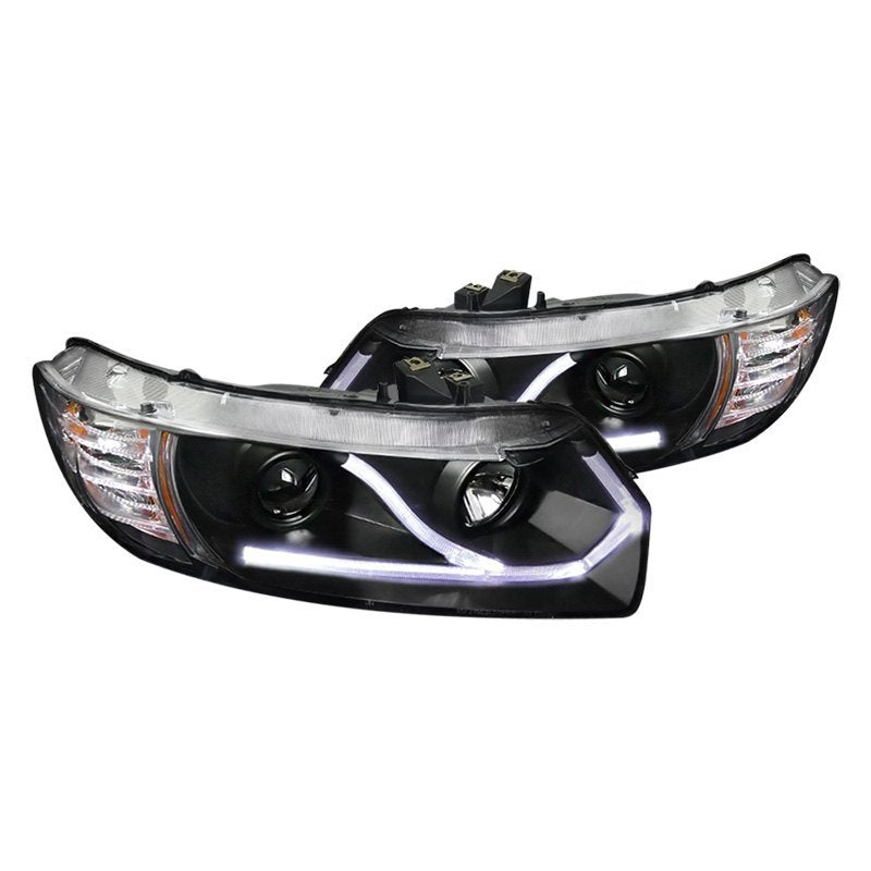 Spec-D Projector Headlights Honda Civic Coupe [DRL LED] (06-11) Black or Chrome
