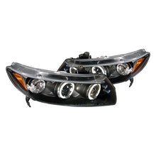 Load image into Gallery viewer, Spec-D Projector Headlights Honda Civic Coupe (06-11) Dual LED Halo - Black or Chrome