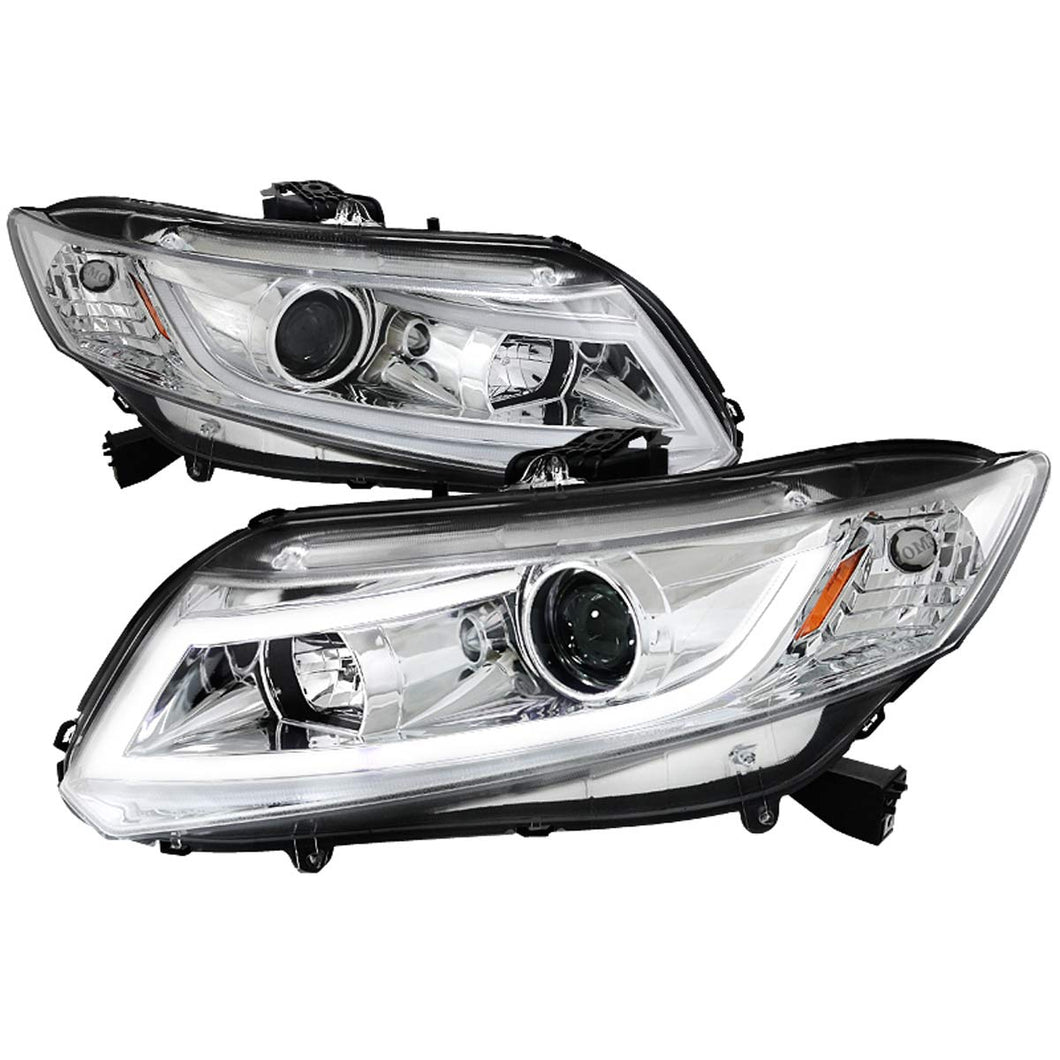 Spec-D Projector Headlights Honda Civic Coupe (12-13) Sedan (12-15) LED Black or Chrome