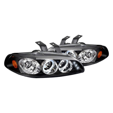 Spec-D Projector Headlights Honda Civic EG [Dual LED Halo] (92-95) Black or Chrome
