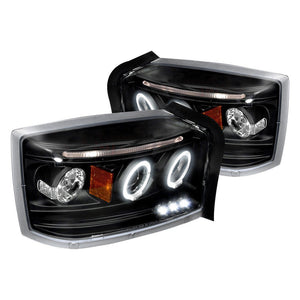 Spec-D Projector Headlights Dodge Dakota [Dual Halo] (05-07) Black or Chrome Housing