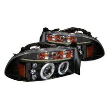 Load image into Gallery viewer, Spec-D Projector Headlights Dodge Dakota (97-04) Durango (98-03) Halo or SMD LED Strip - Black or Chrome