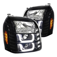 Load image into Gallery viewer, Spec-D Projector Headlights GMC Yukon [LED DRL U-Bar] (2007-2014) Black / Chrome / Tinted
