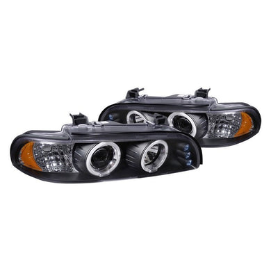 Spec-D Projector Headlights BMW 5 Series E39 [Dual Halo LED] (96-03) Black or Chrome
