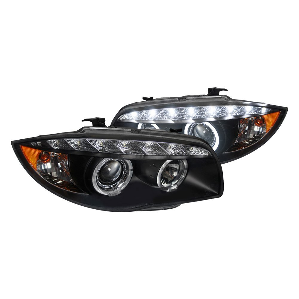 Spec-D Projector Headlights BMW E82 1 Series [Dual Halo LED] (07-13) Black Housing