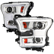 Load image into Gallery viewer, Spec-D Projector Headlights Ford F150 [LED DRL & Sequential Switchback] (2015-2016-2017) Black / Chrome / Smoke
