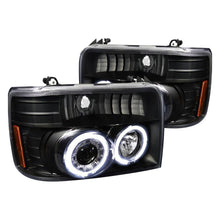 Load image into Gallery viewer, Spec-D Projector Headlights Ford F150 / F250 / F350 / Bronco [Dual Halo] (92-96) Black Housing
