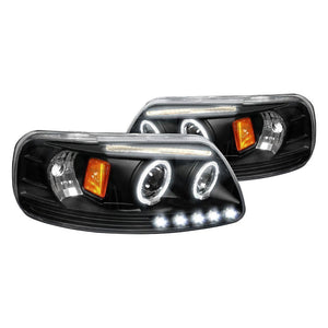 Spec-D Projector Headlights Ford F150 (97-03) Expedition (97-02) [Halo LED] Black or Chrome