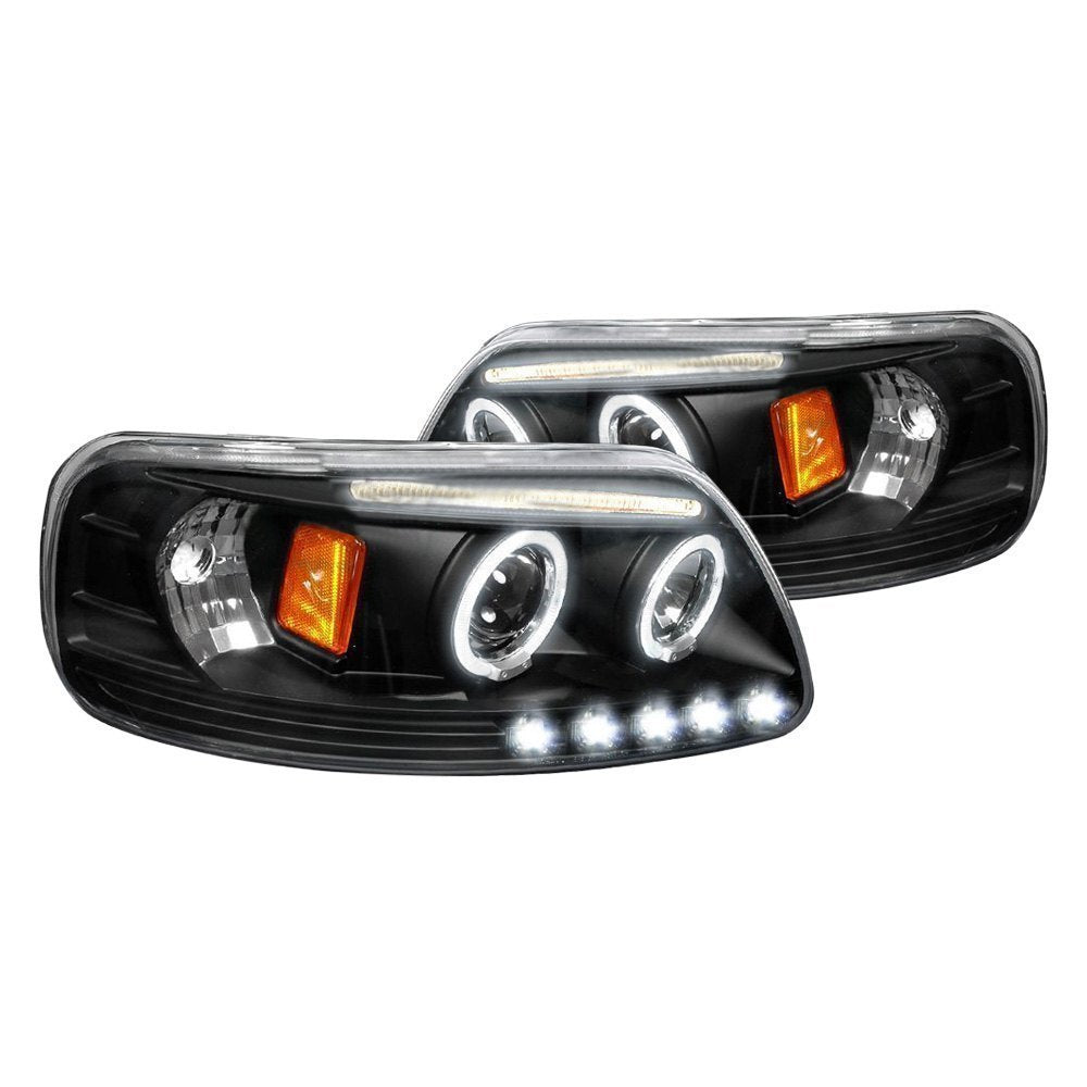 Spec-D Projector Headlights Ford F150 / Expedition [Halo LED] (97-03) Black or Chrome
