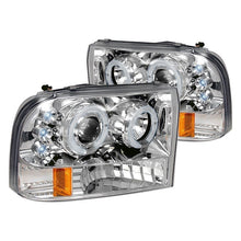 Load image into Gallery viewer, Spec-D Projector Headlights Ford F250 / F350 / F450 [Dual Halo LED] (99-04) Black or Chrome