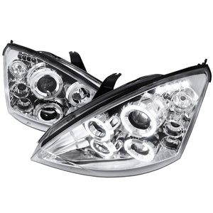 Spec-D Projector Headlights Ford Focus [LED Halo] (00-04) Black or Chrome