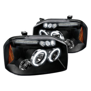 Spec-D Projector Headlights Nissan Frontier [Halo LED] (2001-2004) Black or Chrome