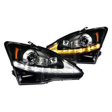 Load image into Gallery viewer, Spec-D Projector Headlights Lexus IS250 / IS350 [DRL LED] (2006-2009) Black or Chrome