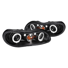 Load image into Gallery viewer, Spec-D Projector Headlights Chevy Malibu / Cutlass [Halo LED] (1997-2003) Black Housing
