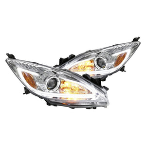 Spec-D Projector Headlights Mazda 3 [LED DRL] (10-13) Black or Chrome
