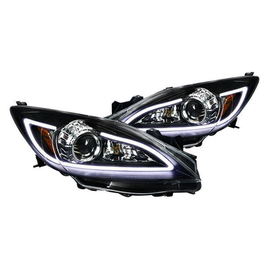 Spec-D Projector Headlights Mazda 3 [LED DRL] (2010-2013) Black or Chrome