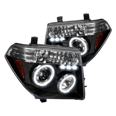Spec-D Projector Headlights Nissan Frontier (05-08) Pathfinder (05-07) [Dual Halo] Black or Chrome