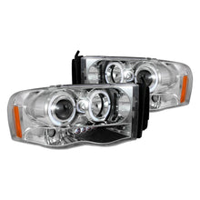 Load image into Gallery viewer, Spec-D Projector Headlights Dodge Ram [Dual Halo LED] (02-05) Black or Chrome Housing