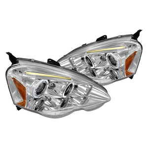 Spec-D Projector Headlights Acura RSX [Dual Halo] (2002-2004) Black or Chrome