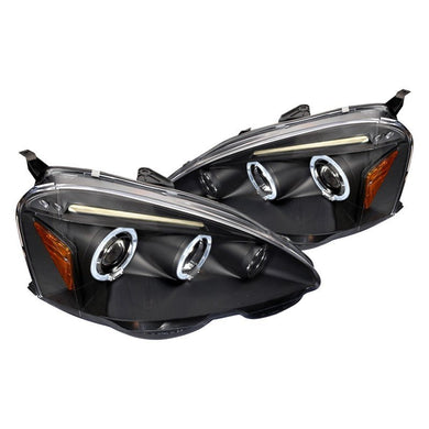 Spec-D Projector Headlights Acura RSX [Dual Halo] (2002-2004) Black