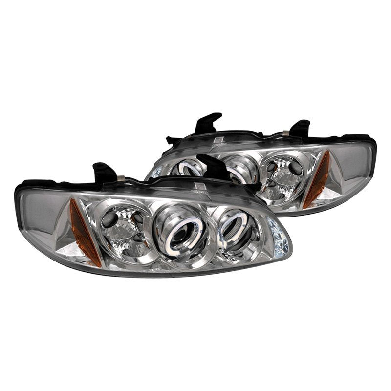 Spec-D Projector Headlights Nissan Sentra [Dual Halo] (00-03) Black or Chrome