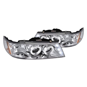 Spec-D Projector Headlights Nissan Sentra [Dual Halo] (95-99) Black or Chrome