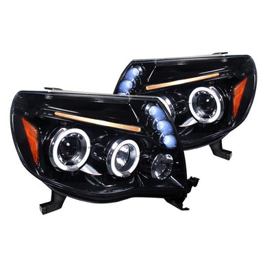 Spec-D Projector Headlights Toyota Tacoma [Dual Halo LED] (05-11) Black or Chrome