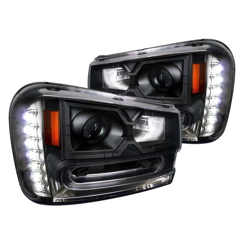 Spec-D Projector Headlights Chevy Trailblazer [LED] (02-09) Black Housing