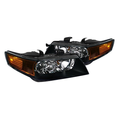 Spec-D Projector Headlights Acura TSX [Black] (2004-2005) 2LHP-TSX04JM-RS