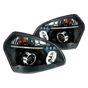 Spec-D Projector Headlights Hyundai Tucson [Halo] (2005-2007) Black or Chrome