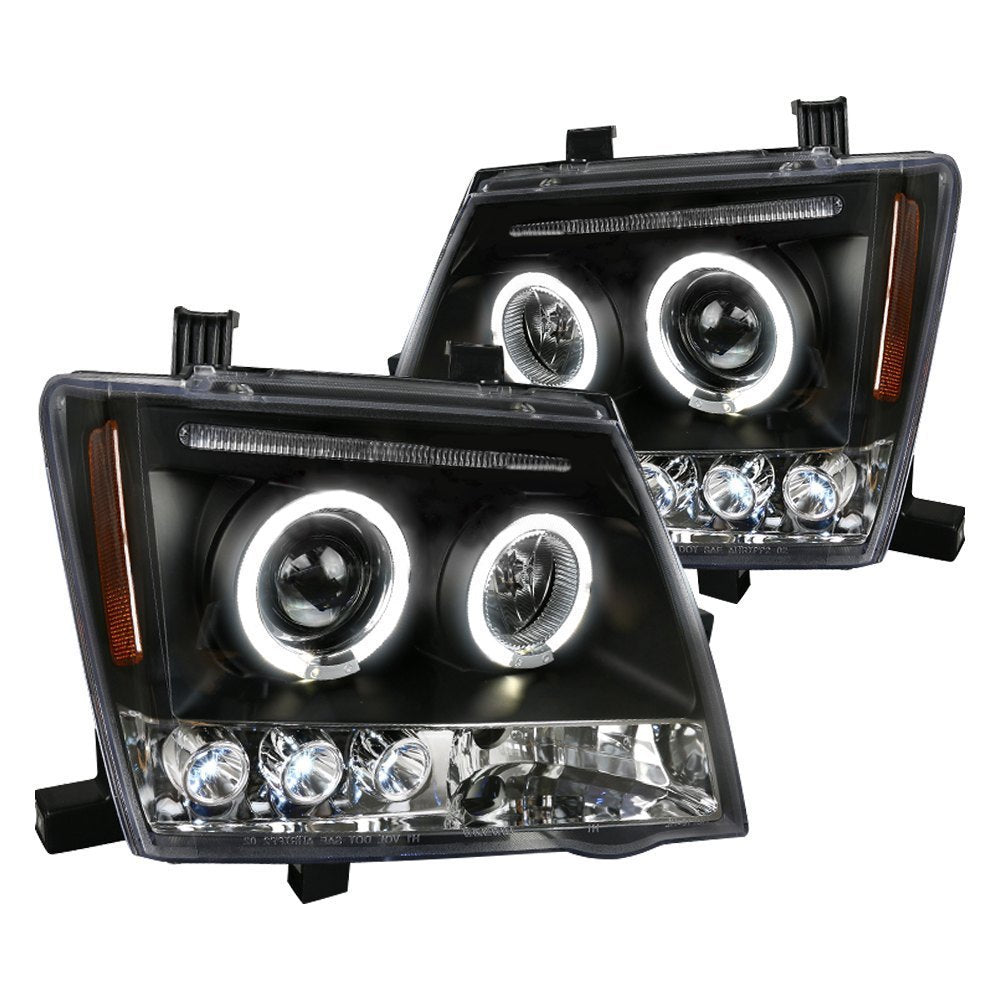 Spec-D Projector Headlights Nissan Xterra [Dual Halo] (05-12) Black or Chrome