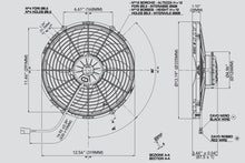 "Load image into Gallery viewer, SPAL Electric Radiator Fan (12"" - Puller Style - High Performance - 1451 CFM) 30102029"