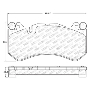 StopTech Street Select Brake Pads Mercedes SL-Class AMG (07-19) [Front w/ Hardware] 305.12910