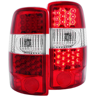 Anzo LED Tail Lights Chevy Suburban / Tahoe (2000-2006) Red/Chrome/Black
