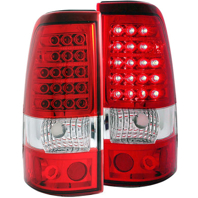 Anzo LED Tail Lights Chevy Silverado 1500/2500 Series (03-06) 1500/2500/3500 [Non Daully] (04-07) Red/Chrome/Black/Smoke
