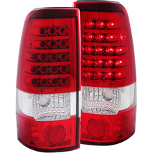 Load image into Gallery viewer, Anzo LED Tail Lights Chevy Silverado 1500/2500/3500 (99-02) Red/Chrome/Black/Smoke