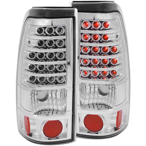 Anzo LED Tail Lights Chevy Silverado 1500/2500/3500 (99-02) Red/Chrome/Black/Smoke